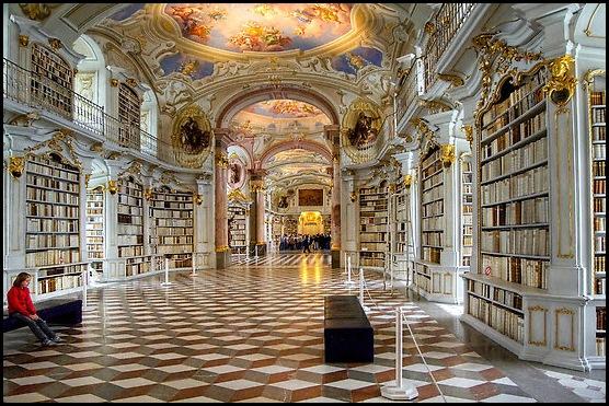 Bibliothèque de l'abbaye bénédictine d'Admont, Autriche -12