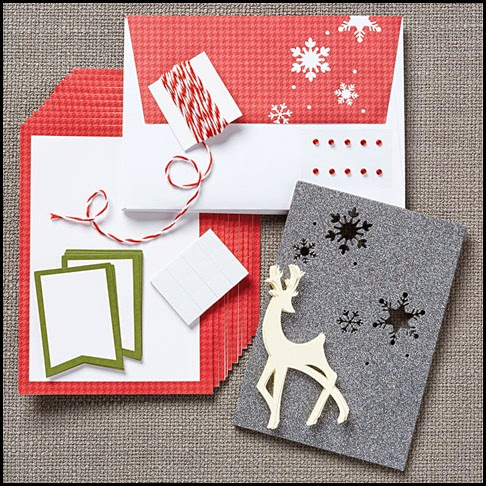 CTMH Cut Above Christmas Card Kit with reindeer