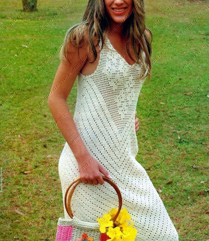 Пляжное платье крючком самое