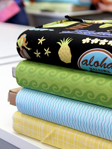 Stack of surfing fabric