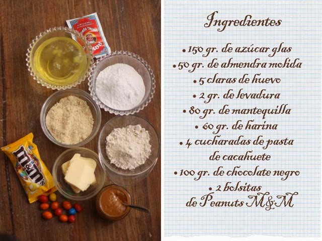 bizcochos-m&m-ingredientes