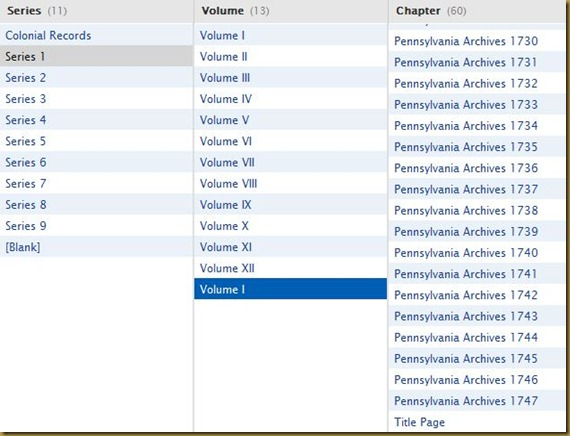 Pennsylvania Archives, Colonial Records, Series 1, Volume 1d