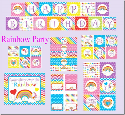 Rainbow Party Pack 1