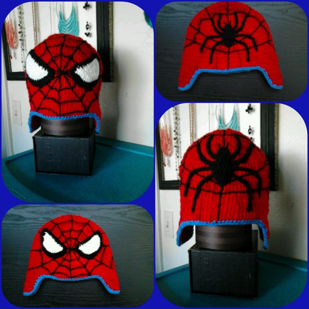 Mis primeros pasos...: Gorro hombre araña crochet