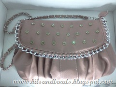 hyphen luxe old rose studded purse, by bitsandtreats