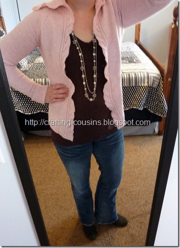 refashion a sweater to a cardigan (3.5)