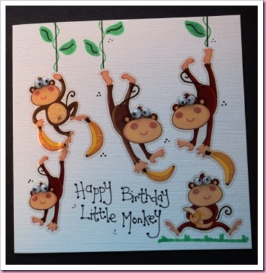 Little Monkey Card 3