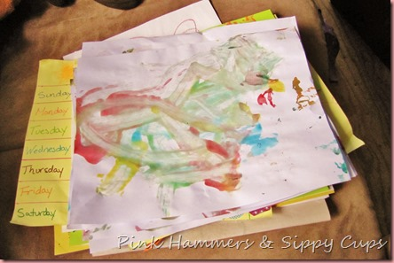 Simple Kids Art Organization @ Pink Hammers & Sippy Cups