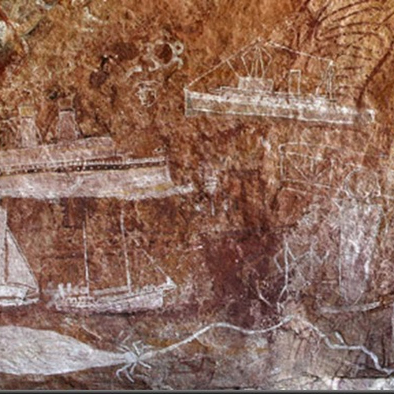 Extraordinário – Pinturas Rupestres na Austrália, Navios, Transatlântico