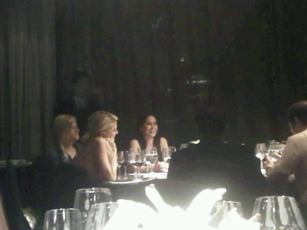 Paris Hilton Having Dinner with the Pacquiaos