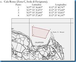 Esempio Campo boe Cala Rossa Disciplinare 2013