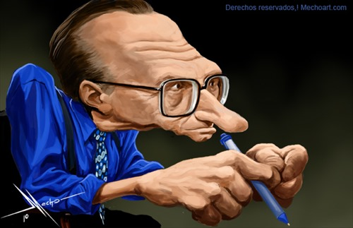 larry king caricature