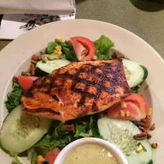 GF grilled salmon salad.