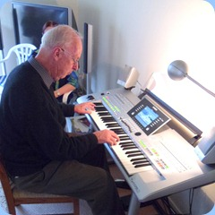 Peter Brophy playing the Tyros 3 along with Jim Nicholson on Clavinova and Rob Powell on the Yamaha Electone EL15.