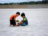 Eidan and Kai at Hazard's Beach