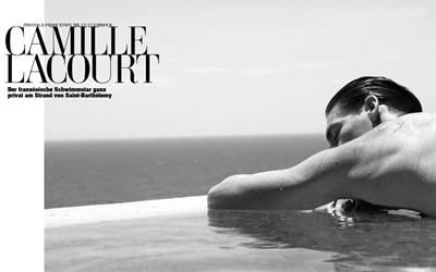 Camille Lacourt by Milan Vukmirovic for L'Officiel Hommes Germany S/S 2011