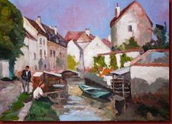 El pescador en el rio (46x33)