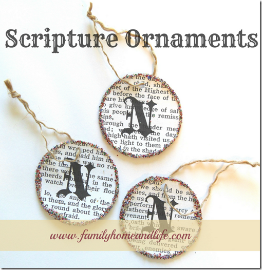 a scripture ornaments g