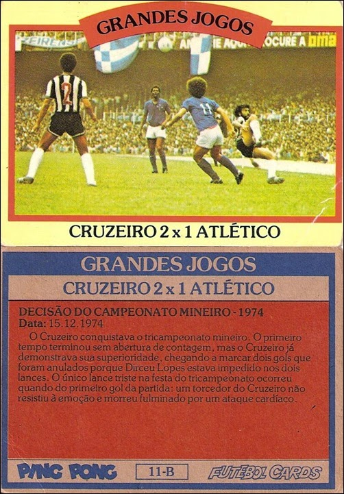 11-B - Cruzeiro 2x1 Atlético