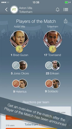 Match of the player soccer rating ios app4