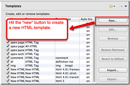 Create New template for visualforce tag