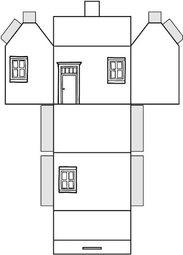 Casa para colorear recortar y montar casa - Cosas para construir en casa ...