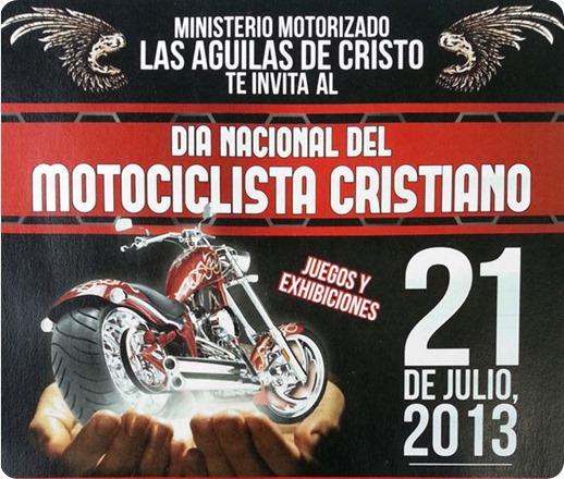 motociclista cristiano