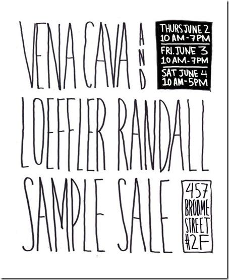 Sample Sale Invite