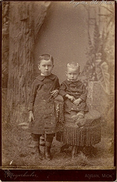 Two little boys from Michigan Solway Antiques