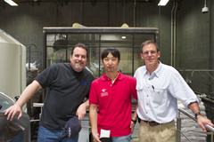 """Mitch, Toshi, and Bryan pose for the camera"" courtesy of Stone Brewing's Blog"