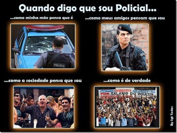 Quando eu digo que sou policial