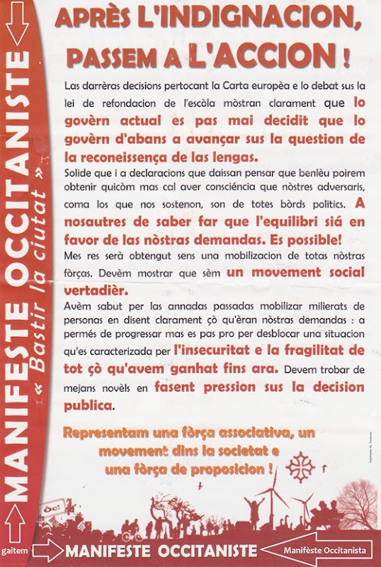 Manifèste Occitanista
