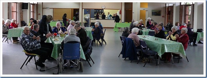 Prescott Club members enjoying the music and getting ready for a nice cooked lunch. Photo courtesy of Dennis Lyons.