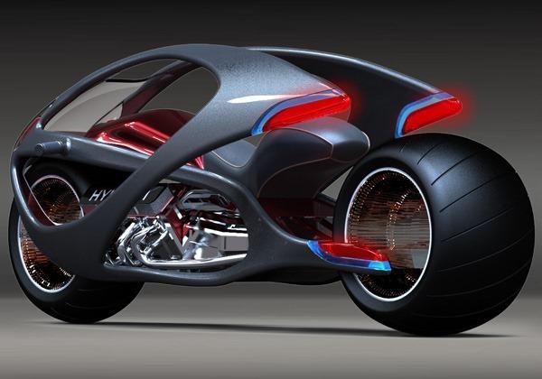 Konsep motorsikal futuristik Hyundai