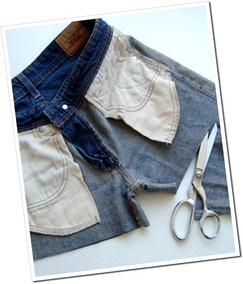 Cortar jeans hacer shorts
