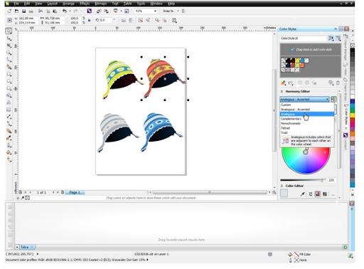 giao dien cua CorelDRAW Graphics Suite X7