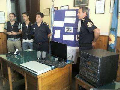 robo chacabuco benítez policía distrital 2013