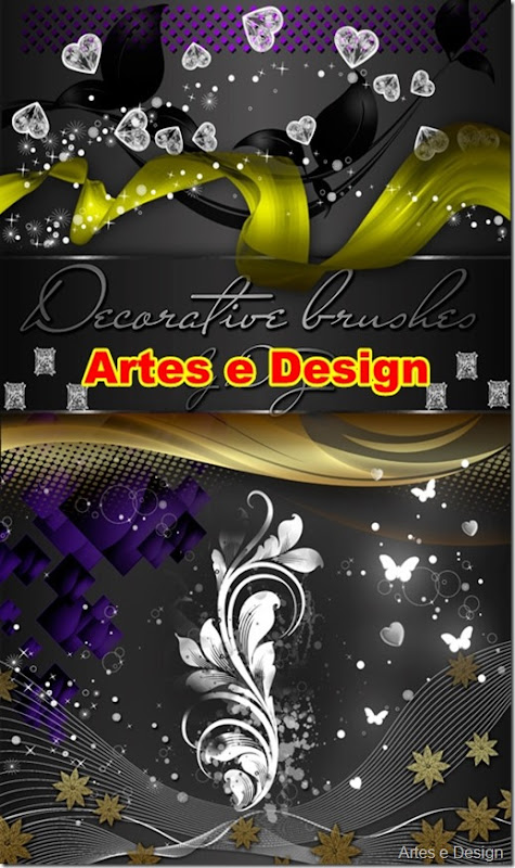 10 brush decorativo