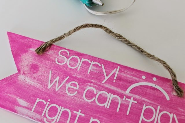 sign with a rope