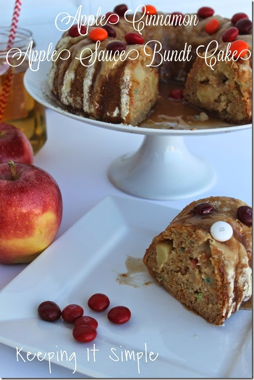 #shop Apple-Cinnamon-Applesauce-Bundt-Cake #FlavorOfFall