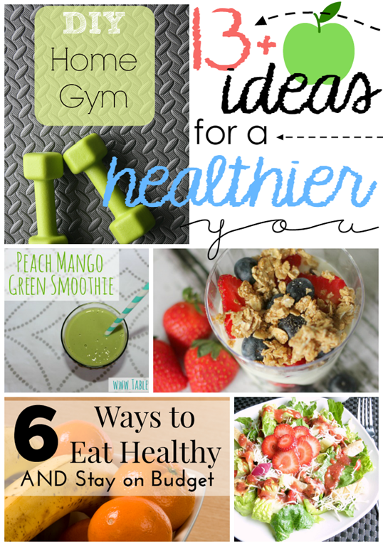 13 Ideas for a Healthier You at GingerSnapCrafts.com #healthy #ideas #linkparty #features