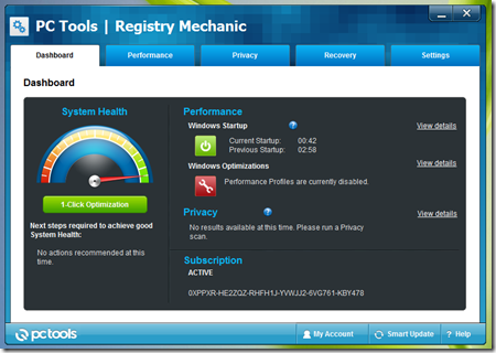 Registry Mechanic v11.0.0.277   Key
