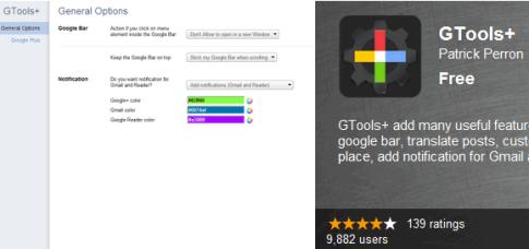 Gtools  para Google Plus