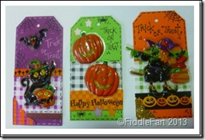 Halloween Trick or Treat Bags with tags. 5