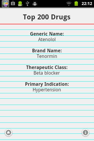 Top 200 Drugs Quiz & Card - screenshot