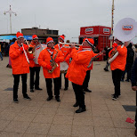 the official orchestra at new year's dive in Scheveningen, Zuid Holland, Netherlands