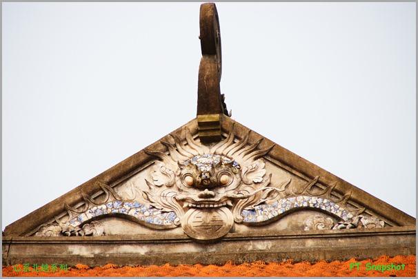 屋顶上的雕刻