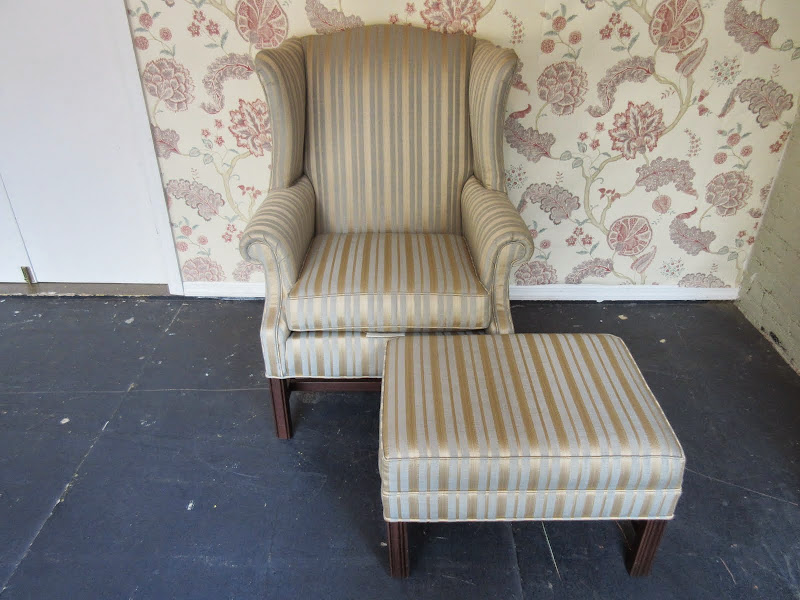 Ethan Allen Wing Chair and Ottoman