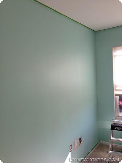 Painting turquoise nursery