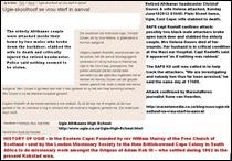GOUWS Christof Ugie Afrikaans High School exheadmaster wife Helena attacked 10June2012 01h45